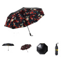 Good Quality Black Metal UV Protection Sun Folding Type Pocket Size Umbrella