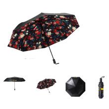 Хорошее качество черный метал УФ-защиты Sun складной зонтик размер типа карман