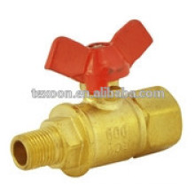 LF-MI Brass lead free Mini Ball Valves suitable for the water and air T handle