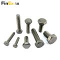 Parafusos sextavados de aço inoxidável de fixação de alta resistência