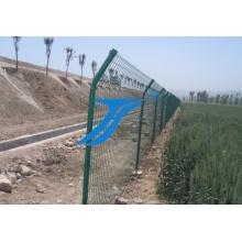 Valla de malla de alambre soldado con autógena galvanizado y PVC