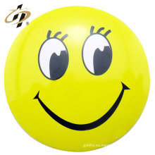 Botón de pin emoji de encargo de la insignia de la lata del color amarillo de la fuente de la decoración casera
