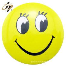 Home decoration supply yellow color custom tin badge emoji pin button