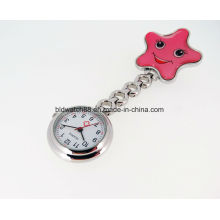 Cadeau de mode Analog Nurse Pocket Watch with Star Shaped