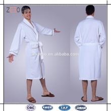 100% Cotton Quickly Dry White Wholesale Hotel Waffle Bathrobe