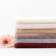 Terciopelo cálido de tela suave de lana de conejo de imitación