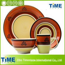 16PC Stoneware Handpainted Dinnerware Set (612043)