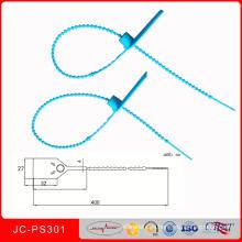 Jcps-301 etiqueta plástica del equipaje autoblocante sello plástico