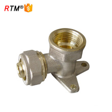 brass wallplate elbow compression fitting multilayer pipe compression fitting