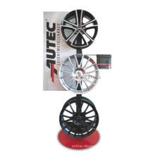 Markenname-Metallfußboden-Legierungs-Rad-fördernde Auto-Teile Einzelhandelsgeschäft-Felgen-Anzeigen-Zahnstange
