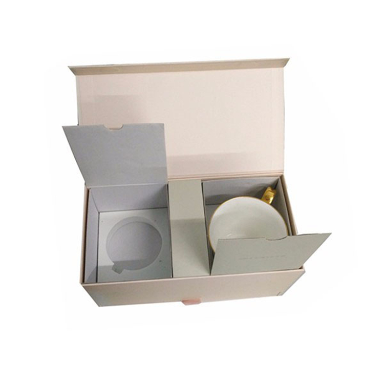 Luxury Rigid Paper Coffee Cup Set Gift Box