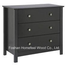 Mobília de quarto de madeira Cofragem de cômoda de 3 gavetas (HC13)