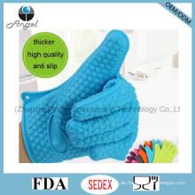 Herzform Fünf-Finger-Silikon BBQ Handschuh Sg10