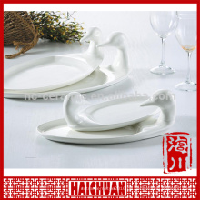 Weiße Porzellan-Spitze Platte Bakeware Platte Qualität Wahl