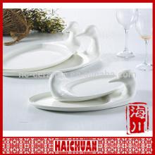 Placa de laço de porcelana branca placa de bakeware Qualidade Escolha