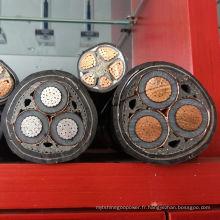 Câble d'alimentation semi-cylindrique à haute qualité semi-cylindrique Câble d'alimentation XLPE