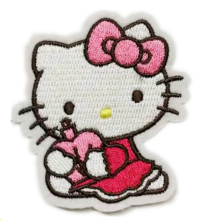 Hello Kitty Woven Embroidery Iron On Patches