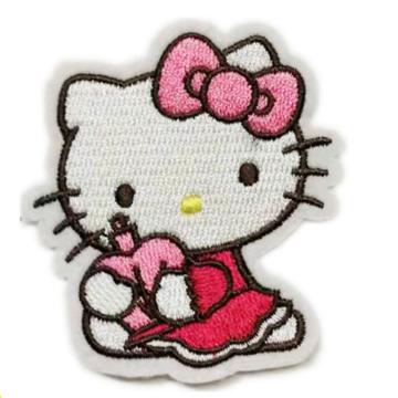 Утюг на заплатках для тканой вышивки Hello Kitty