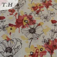 Tela hecha punto de la impresión de la tela de la materia textil de Tongxiang Tenghui