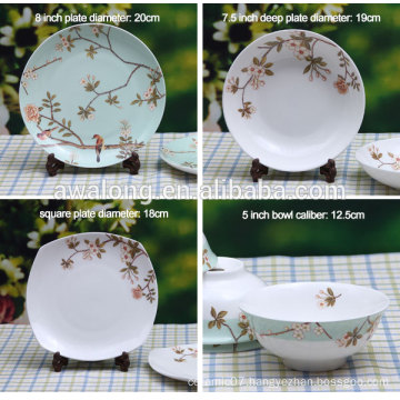Everyday Usage White porcelain Salad Bowls Can Be Designed according to your request