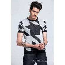 60% Tencel27% Linen13% Nylon Spring & Summer Swallow Gird Tricots Hommes Sweater