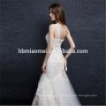 Сучжоу заводские поставка одно плечо кружева бисером русалка кружева свадебное платье с длинным шлейфом