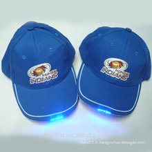 Logo personnalisé pour chapeau de baseball léger LED en Chine