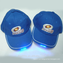 Logotipo personalizado para luz LED chapéu de beisebol fazer na china