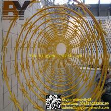 Ala de alambre de concertina sin metal galvanizada del alambre de la maquinilla de afeitar del hierro