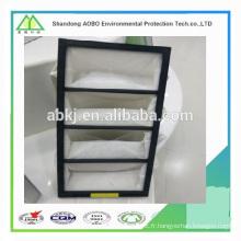 AOBO filtre de poche hvac poche air industriel filtre multiples poches non tissées filtre à air.