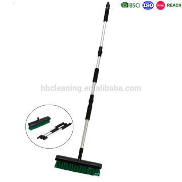 cepillo largo del polvo de la limpieza del piso de la manija, escoba de la limpieza del jardín del flujo de agua