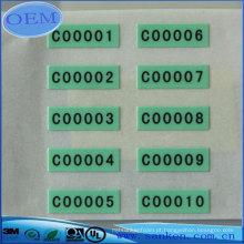 Etiqueta personalizada do holograma do epóxi da abóbora da resina colorida