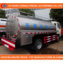 Caminhão do leite do caminhão de tanque 120HP do leite do caminhão do caminhão 8cbm de Dongfeng