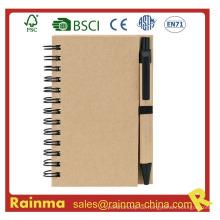 A5 Spiral Notebook mit Kugelschreiber