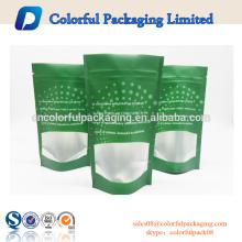 Personalizado reutilizável stand up saco fosco bolsa de embalagem transparente