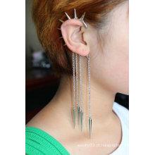 Declaração Pendurado Individual Ear Cuff Tassels Brincos Jóias EC35