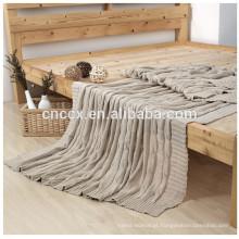 15PKBL02 2016 novo cobertor de cashmere de seda de tricô cabo cobertor