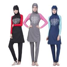 Dernières musulman islamique en gros personnalisé hijab écharpe musulman femmes maillots de bain