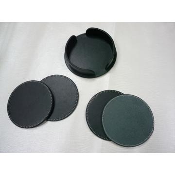 Customed PU Coaster Set, Cup Mat Cup Pad