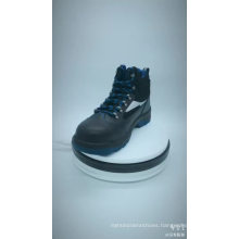 PU Injection Action Smooth Leather cheap labor protection ce standard steel toe Safety Shoes