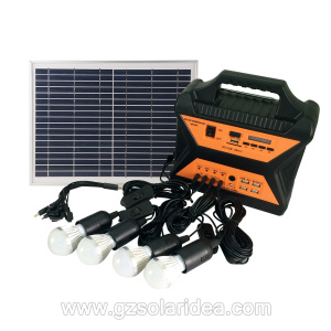 10W 12V Solar Panel Lighting Kit For Camping