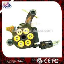 Shader máquina de tatuaje hecho a mano / 10 envuelve bobinas de alambre de cobre máquina