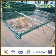 Gark Green Powder Coated Chain Link Temporäre Zaun