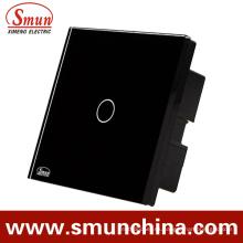 Interruptor del tacto de la pared de la cuadrilla de Bs 1, interruptor teledirigido ABS incombustible 1500W