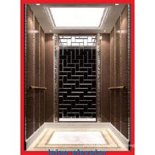 Пассажирский лифт модели Hairline из нержавеющей стали 304