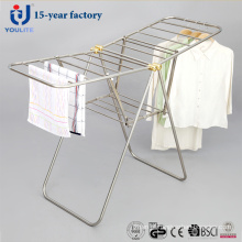 Novo estilo Rack todas as roupas de Fldable de aço inoxidável