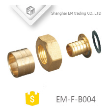 EM-F-B004 A set Brass Sliding Sleeve Pex Nipple and nut pipe fitting