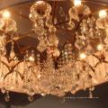 Отель европейский декоративный кристаллический Привесной светильник с тенью ткани