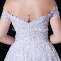 New White Lace Long Tail Evening Dress For Fat Women