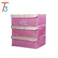 Foldable Drawer Dividers Closet Organizers Bra Underwear Storage Boxes with 3 Set